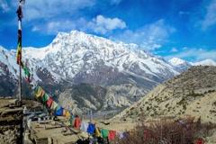 Timelapse from Annapurna Circuit, Himalaya, Nepal Stock Footage