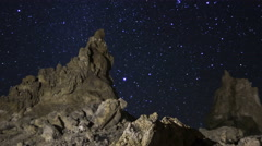 2axis MoCo Astro Time Lapse of Constellation Orion over Tufa Towers -Zoom Out- - stock footage