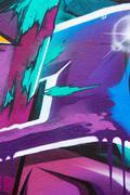 street graffiti background - stock illustration