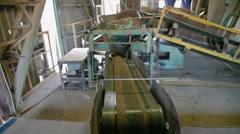 Conveyor belt sand Stock Footage