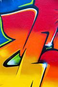 Colorful graffiti fragment Stock Illustration