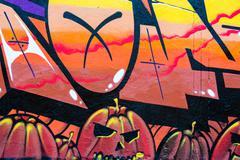 street graffiti - stock illustration