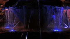 4K with illuminated fountain Stock Footage