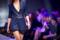 Sofia Fashion Week female suit - stock photo