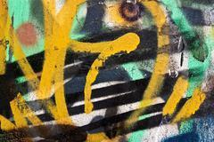 messy graffiti wall background - stock illustration