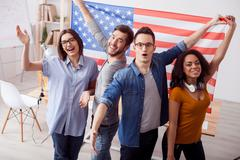 We love the Unites States of America - stock photo