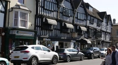 Stratford-upon-Avon Establishing shot, traffic England Stock Footage