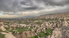 Timelapse of rose valley in Cappadocia, Turkey Stock Footage
