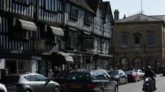 Stratford-upon-Avon: perfect Tudor Architecture, England Stock Footage