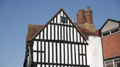 Medieval Window in Stratford Upon Avon, England Stock Footage