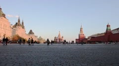 Red Square panorama, Moscow, Russia - stock footage