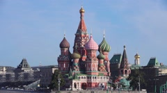 Red Square, St Basil's Church, Moscow, Russia Stock Footage