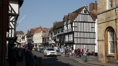 Stratford-upon-Avon high street, England Stock Footage