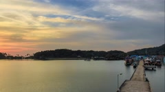 Sunset timelapse of bay in Thailand Stock Footage