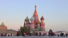 St Basil's Church, Red Square, Moscow, Russia Stock Footage