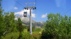 Lift on Lomnicky stit in High Tatras Stock Footage