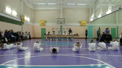Children pass the exam in Karate Stock Footage