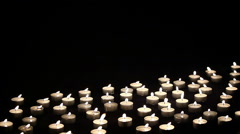 Many candels moving on the light wind Stock Footage