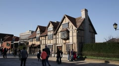 Stratford-upon-Avon Shakespeare house, England - stock footage