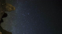 Astrophotography Time Lapse of Milky Way over Trona Pinnacles -Pan/Vertical- - stock footage