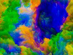 Advance of Colors Stock Illustration