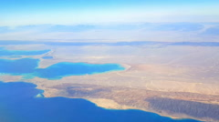 Aerial view of Red sea and Arabian desert Stock Footage