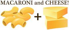 Raw macaroni and cheese Stock Illustration