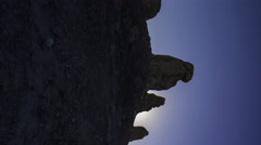 Time Lapse of Sunrise over Tufa Towers at Trona Pinnacles -Pan/Vertical- Stock Footage