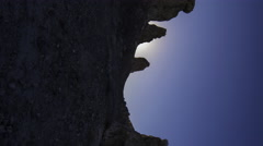 Time Lapse of Sunrise over Tufa Towers at Trona Pinnacles -Vertical- Stock Footage