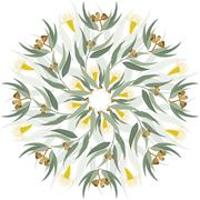 Abstract botanical nature ornament - stock illustration