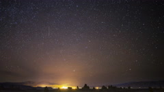 Astro Time Lapse of Starry Sky over Trona Pinnacles -Pan Left- - stock footage