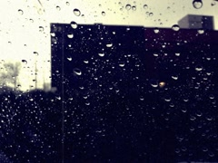 8mm Vintage Style Rain on Car Windshield Stock Video Stock Footage