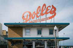 Dolle's Salt Water Taffy, in Rehoboth Beach, Delaware. Stock Photos