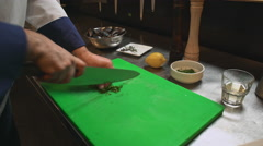 Chef making luxury dinner. Workshop Stock Footage