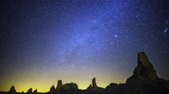 Astrophotography Time Lapse of Milky Way over Tufa Formation  - stock footage