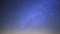 Astrophotography Time Lapse of Milky Way over Tufa Formation -Sky Only- - stock footage