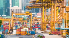 The port of Singapore Stock Footage