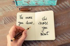 Handwritten quote as inspirational concept image - stock photo