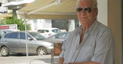 Senior Man in Sunglasses Stock Footage