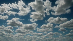 Time lapse clouds travel across a blue sky - Fantastic Clouds 0310 HD, 4K Stock Footage