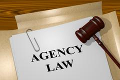 Agency Law legal concept - stock illustration