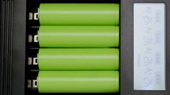 Battery charger. Close up. Stock Footage