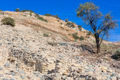Stock Photo of Khirokitia archaeological site Cyprus