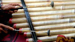 Marimba and mallets in bali Stock Footage