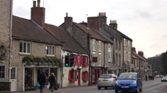 Helmsley England rural market town business traffic 4K Stock Footage