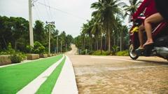Motorbike trip on the tropical island Stock Footage
