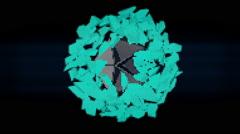VJ Loop Neon Metal Beats colorful explosion 128 bpm Stock Footage