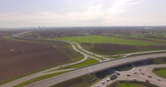 Aerial 4K Road Junction - stock footage