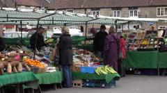 Helmsley England rural market town center fruit 4K Stock Footage