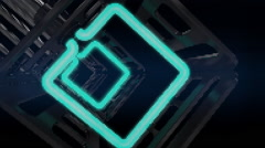 VJ Loop neon metal beats rollercoaster camera 128 bpm  - stock footage